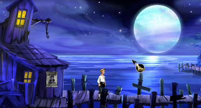 video game - The Secret of Monkey Island - Guybrush on the dock (new version)