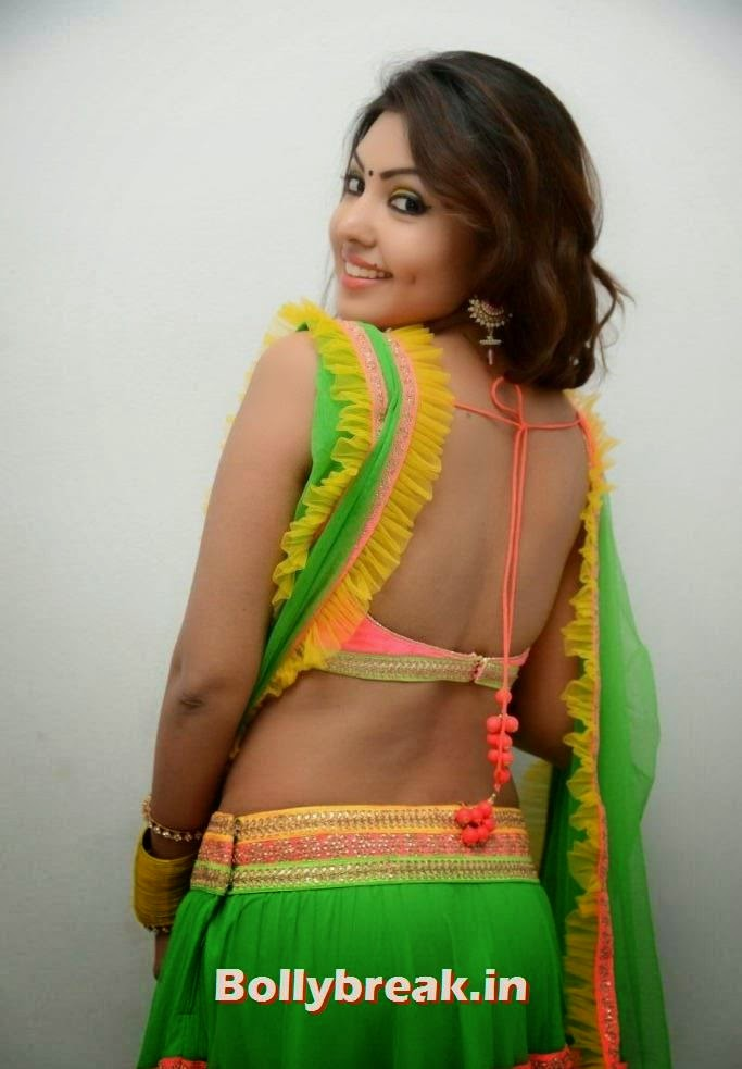 , Komal Jha Latest Photoshoot in Green Ghagra Choli