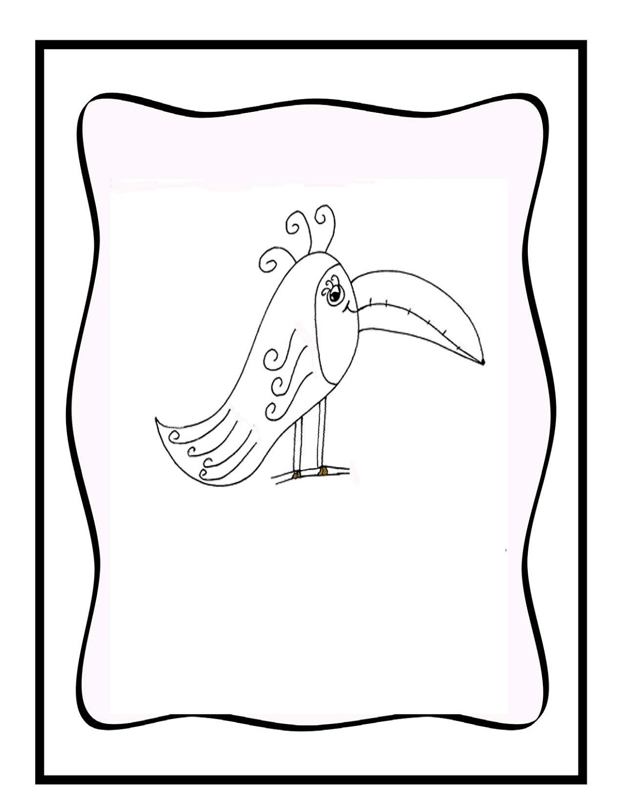 Toucan Coloring Page Cake Ideas and Designs