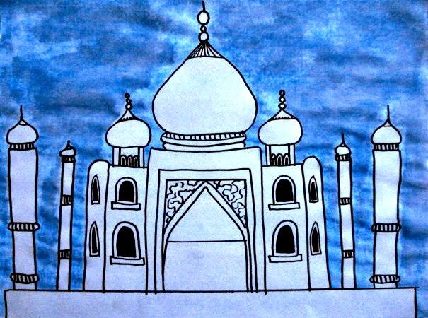 a faithful attempt: Taj Mahal Symmetrical Drawings