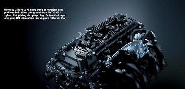 Động cơ Dual VVT-i trên Land Cruiser Prado sản sinh ra 164 mã lực với mức tiêu thụ nhiên liệu tối ưu