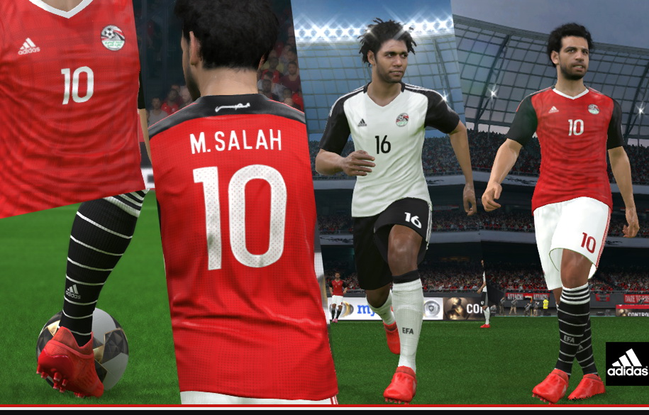 Pes 2017 - Egypt Afcon 2017 Kits By Abdallah El Ghamry