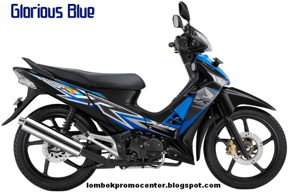 Warna Baru Honda Supra X 125 Glorious Blue
