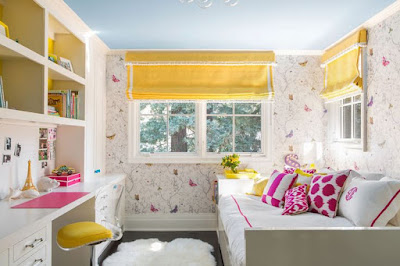 dekorasi kamar tidur anak gadis diruang sempit namun terasa luas