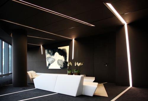 Black White Interior Design Office Ideas A Cero