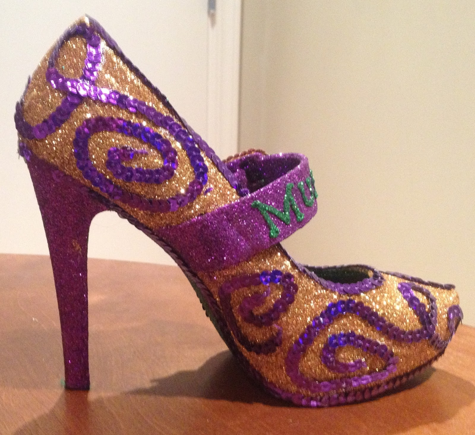 Confessions Of A Glitter Addict: Purple, Green And Gold