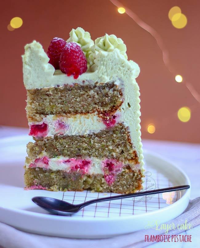 laer cake ganache pistache