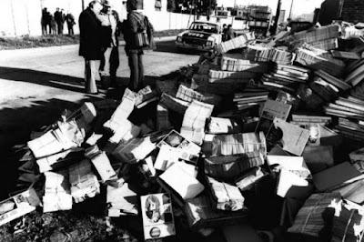 quema de libros argentina