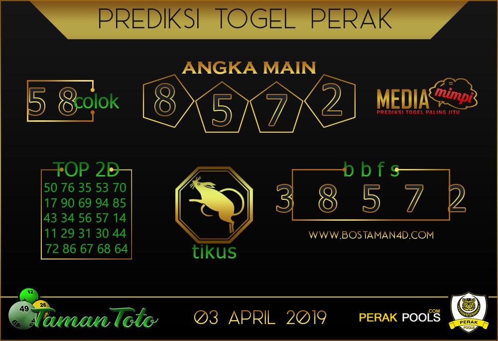 Prediksi Togel PERAK TAMAN TOTO 03 APRIL 2019