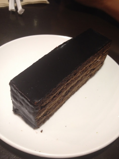 Special chocolate cake at Fujinoya Japanese Bistro in Cebu City Philippines