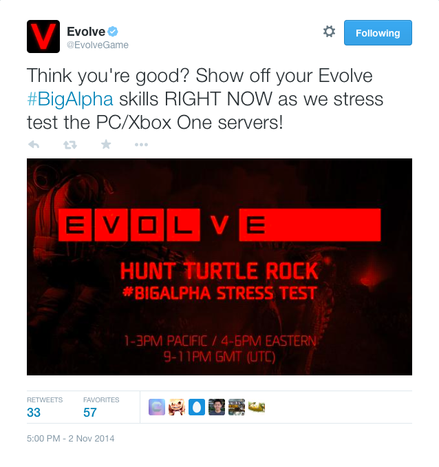 Evolve alpha matchmaking not working