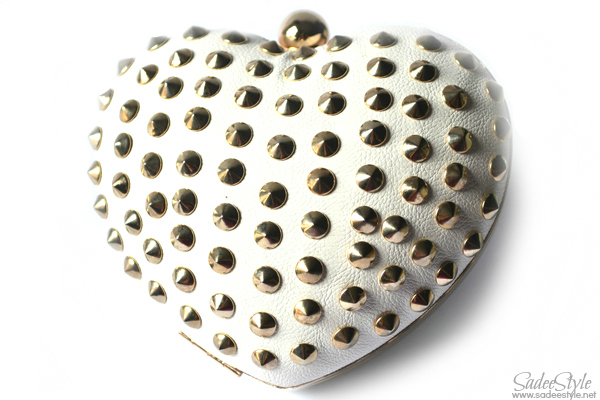 Riveted Heart shaped clutch