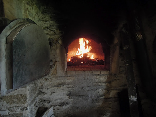 wood fire brick oven