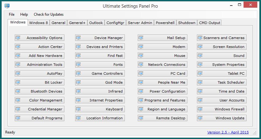 Ultimate Settings Panel - New Domain - New Website! 1