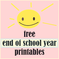 free end of school year happy summer printables