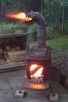 estufa a leña de hierro quema tutti