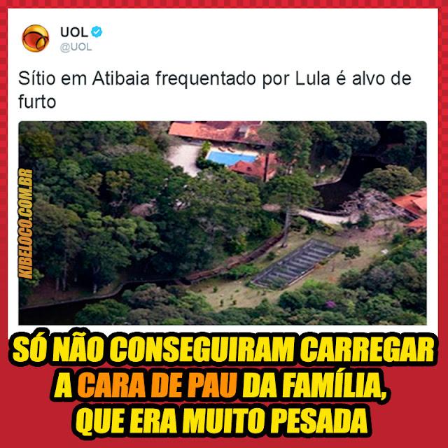Imagens zaundo sitio do Lula
