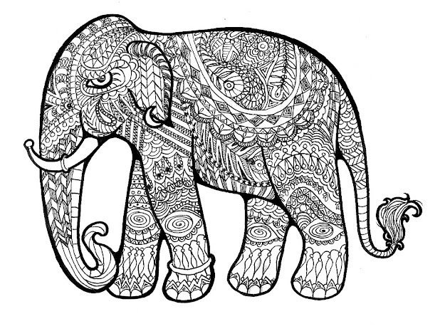Mandala Elephant Coloring Pages With Beebcefdb