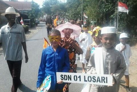 Karnaval Pramuka Kwartir Ranting Ampelgading Berlangsung Meriah