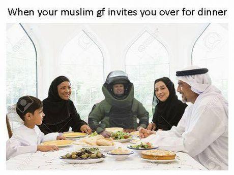 Funny Muslim Girlfriend Dinner Meme Picture