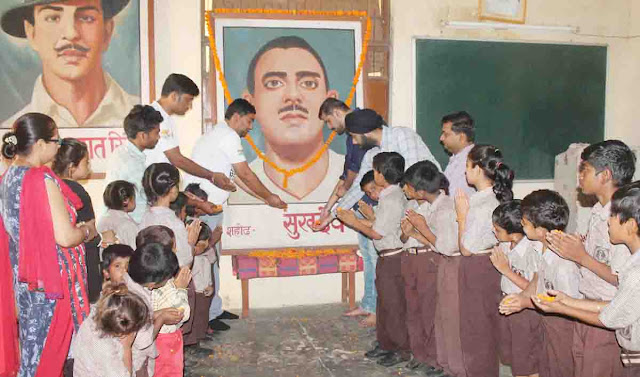 Celebrated martyr Sukhdev's 111th birthday in Faridabad, paid tribute