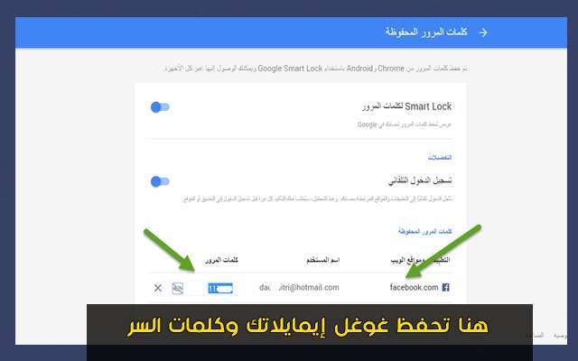 هل تعلم أن غوغل تحتفظ بإيمايلاتك وكلمات السر الخاصة بك التي تقوم بتسجيل الدخول بها إلى أي موقع عبر الأنترنت | تعرف كيف تصل إليها