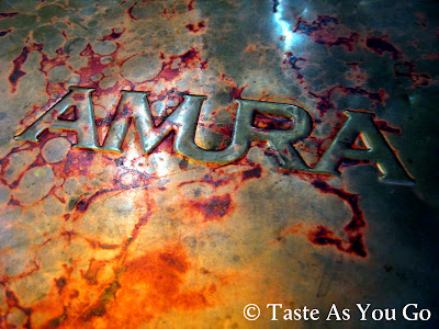 Cover of Amura Menu at Amura - Dr. Phillips in Orlando, FL (Photo by Michelle Judd of Taste As You Go)