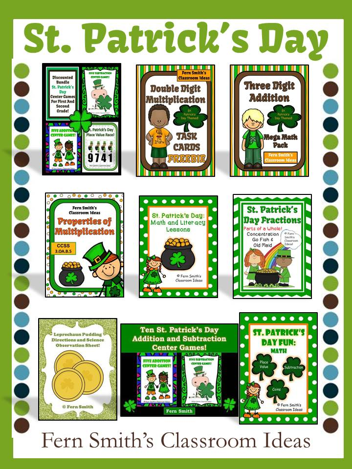 Fern Smith's Classroom Ideas 3 Million Strong TPT Sale St. Patrick's Day Resources