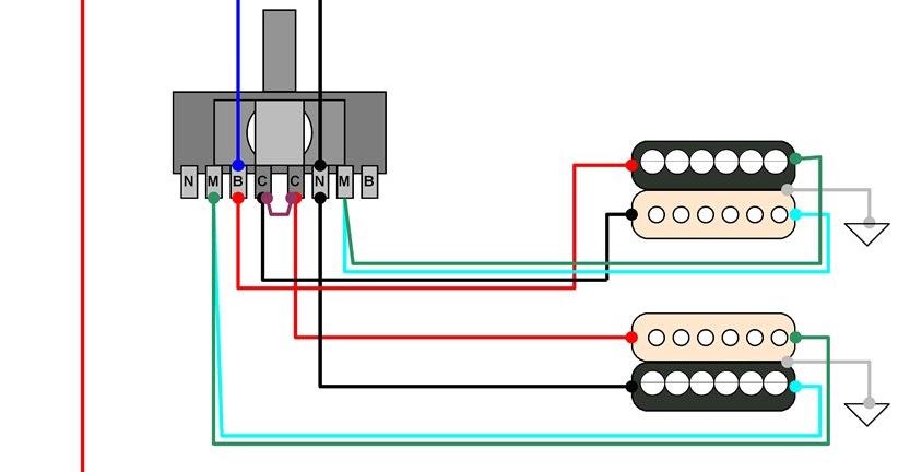 Hermetico Guitar: Wiring Diagram: Carvin Custom HH 01