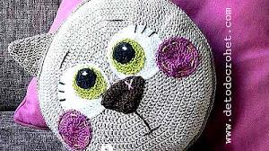 Almohadón Crochet con Diseño de Gato / Paso a paso
