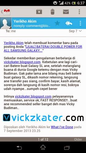 Testimoni Konsumen Vickzkater.com via Komentar di Blog