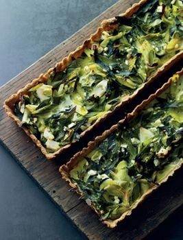 Leek and goat feta tart on rye pastry - Nordic Vegetarian Diet Recipes