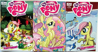Fluttershy micro comic covers A B and RI