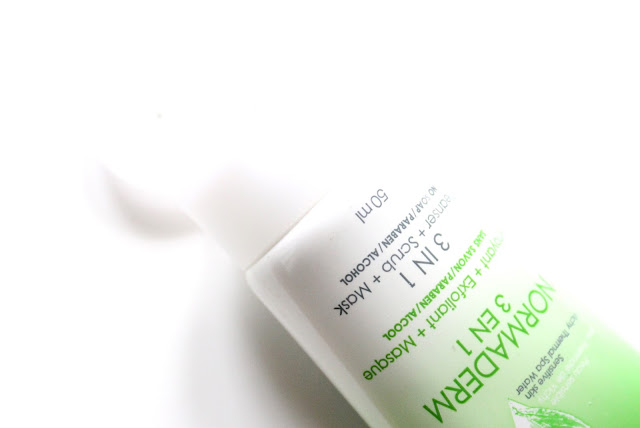 vichy normaderm 3 in 1 cleanser+ scrub + mask review, swatches, price and buy online inda