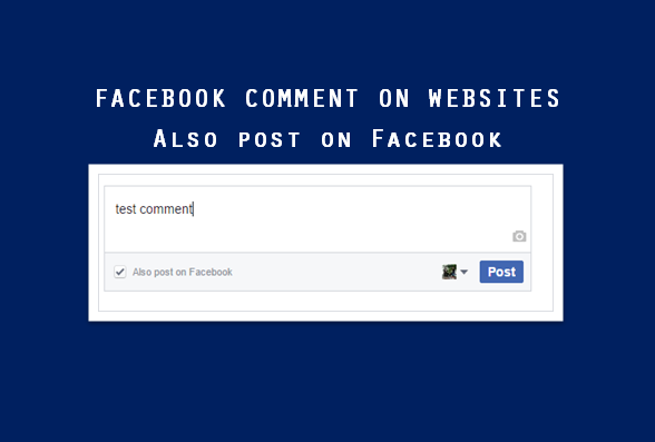 Facebook comment on website - Also post on Facebook - where is it displayed?