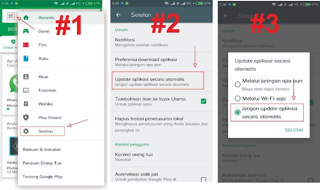 Cara Agar Aplikasi Android Tidak Update Otomatis
