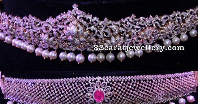 Latest Diamond Vaddanam Designs Jewellery Designs