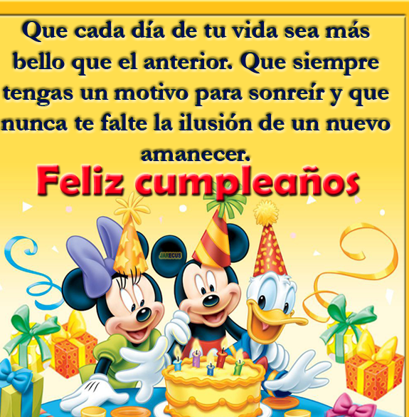 feliz cumplealos mickey, minnie y donald
