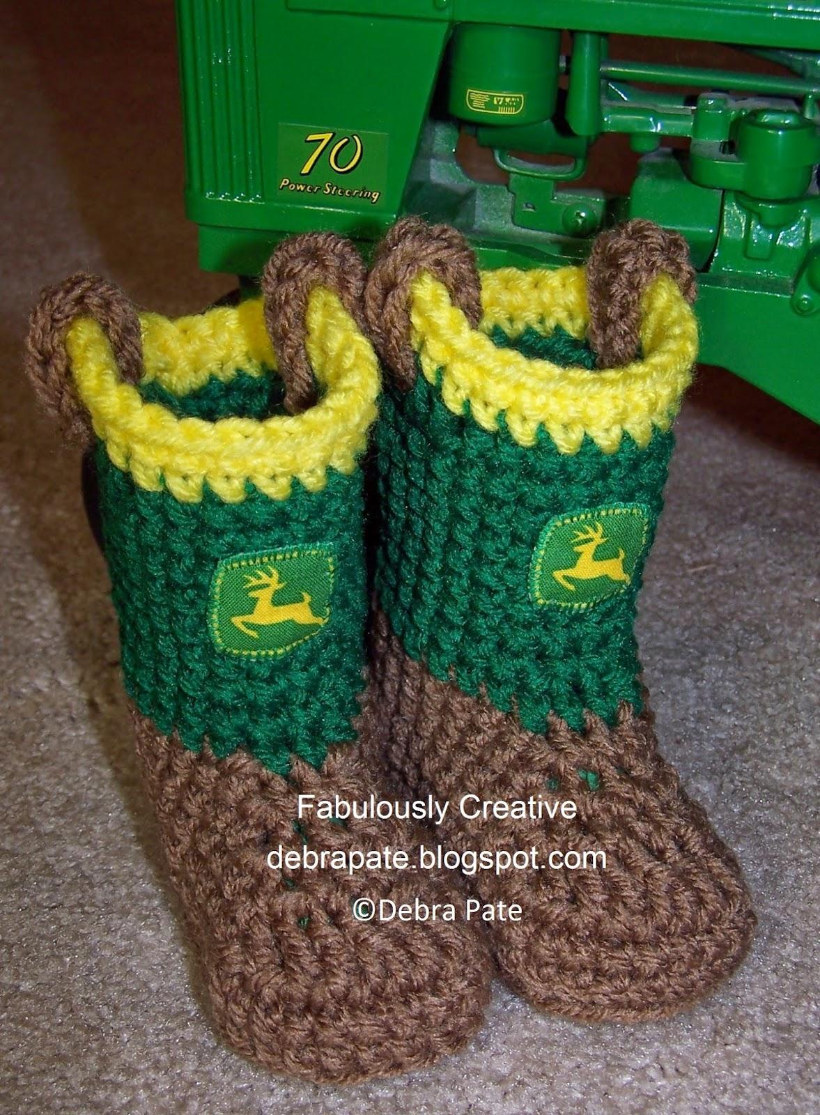 Fabulously Creative Crochet John Deere Tractor Inspired
