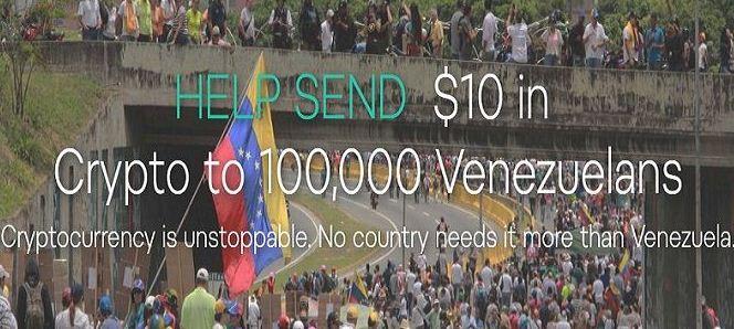 منصة كوين باس Coinbase تتبرع للعائلات المحتاجة في فنزويلا