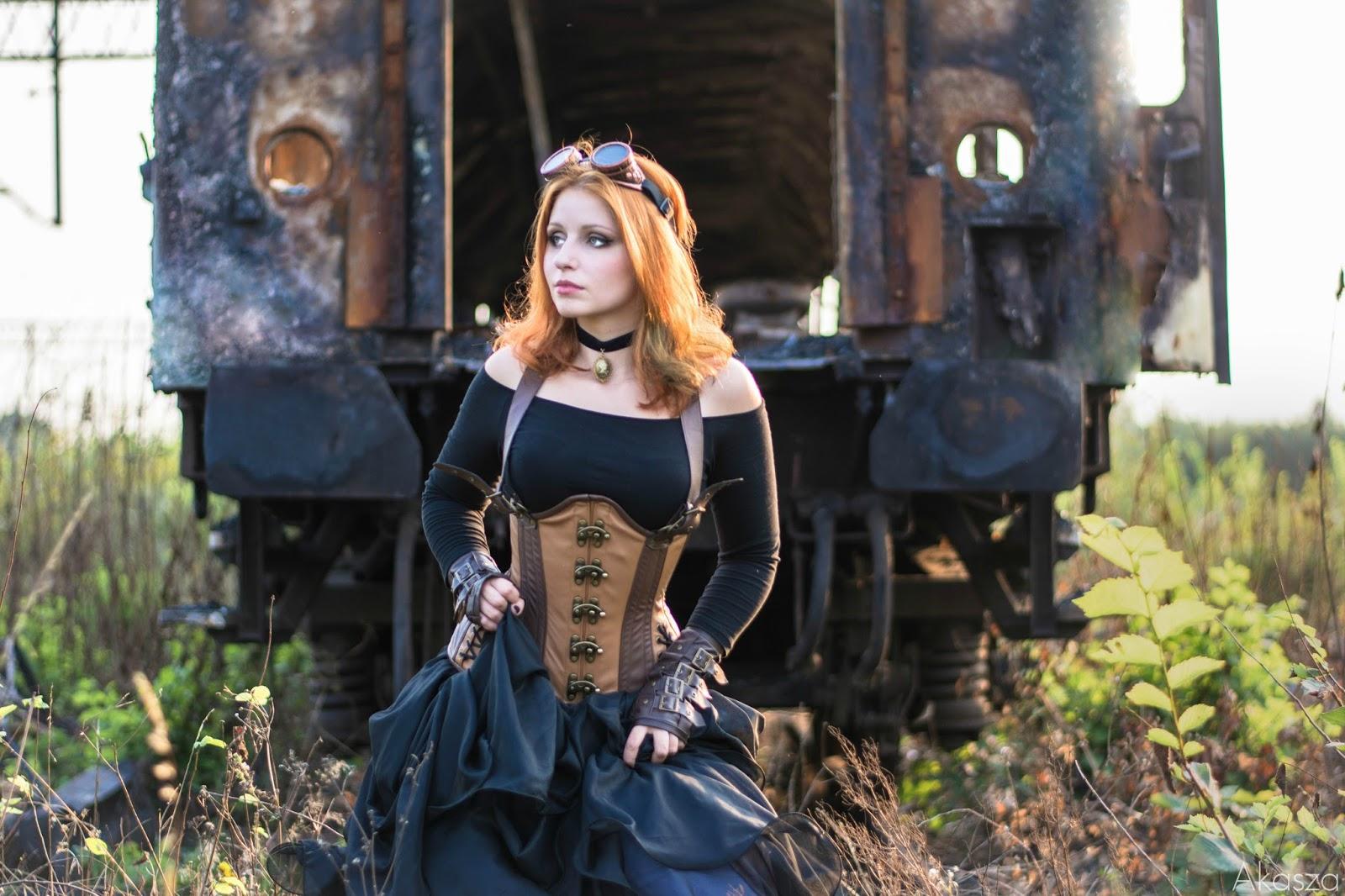 Postapocalyptic steampunk - sesja w spalonym wagonie
