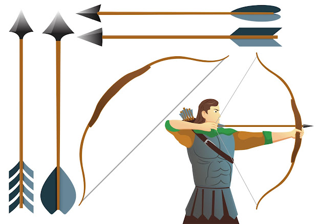 Aim Pound Bow And Archer Vectors Archer Vectors Archery