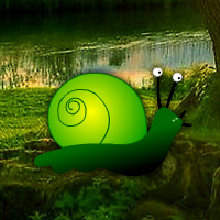 Games2Rule - Green Snail Forest Escape