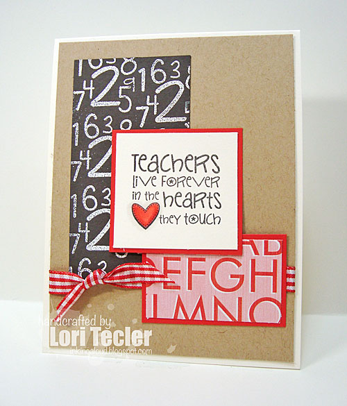 Teachers Live Forever in the Hearts They Touch card-designed by Lori Tecler/Inking Aloud-stamps from Verve Stamps