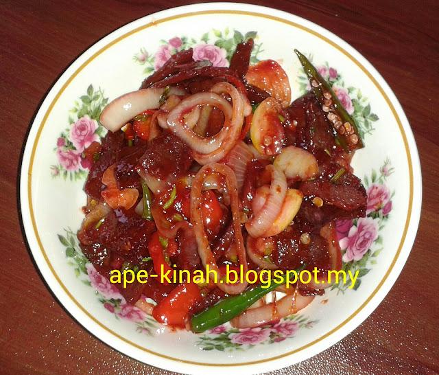 Daging Masak Merah, daging masak merah simple