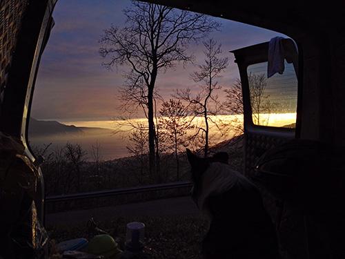 Sonnenuntergang am Genfer See, Schweiz