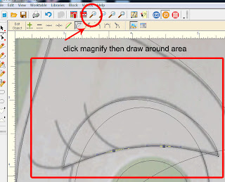 Magnify before freehand drawing