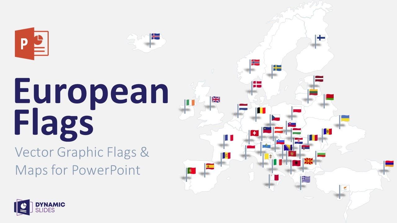 European Vector Flags for PowerPoint
