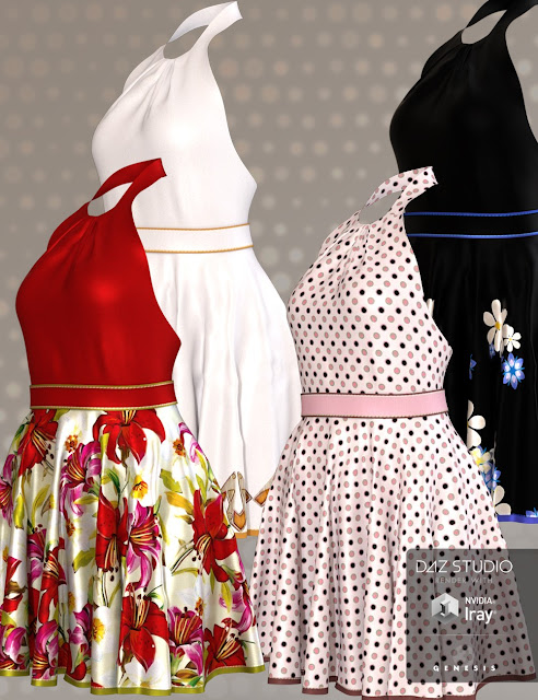 Candy Dress for Genesis 3 Female
