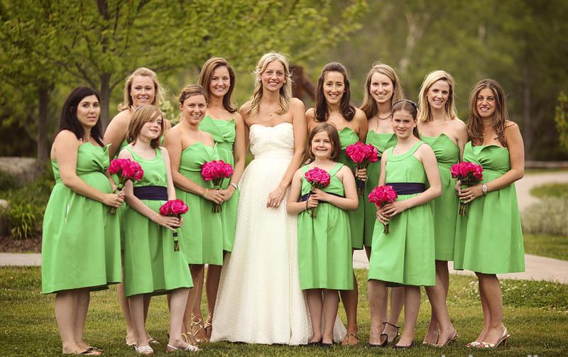Spring Green Wedding Dress